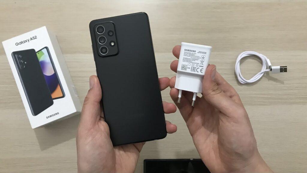 Samsung Galaxy a52 package